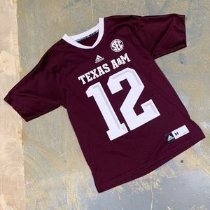 Adidas NCAA Texas A&M University Aggies Jersey 12